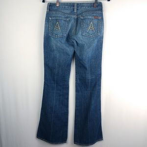 """7 For All Mankind """"A"""" Pocket Boot Cut Flare Jeans"""